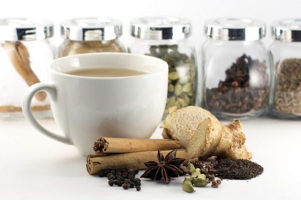 Cup of Chai Tea and spices
