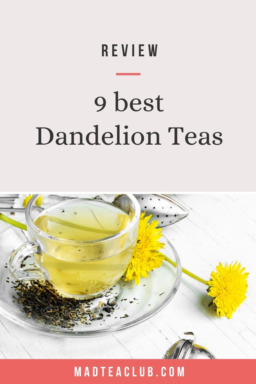 dandelion root tea: pinterest design