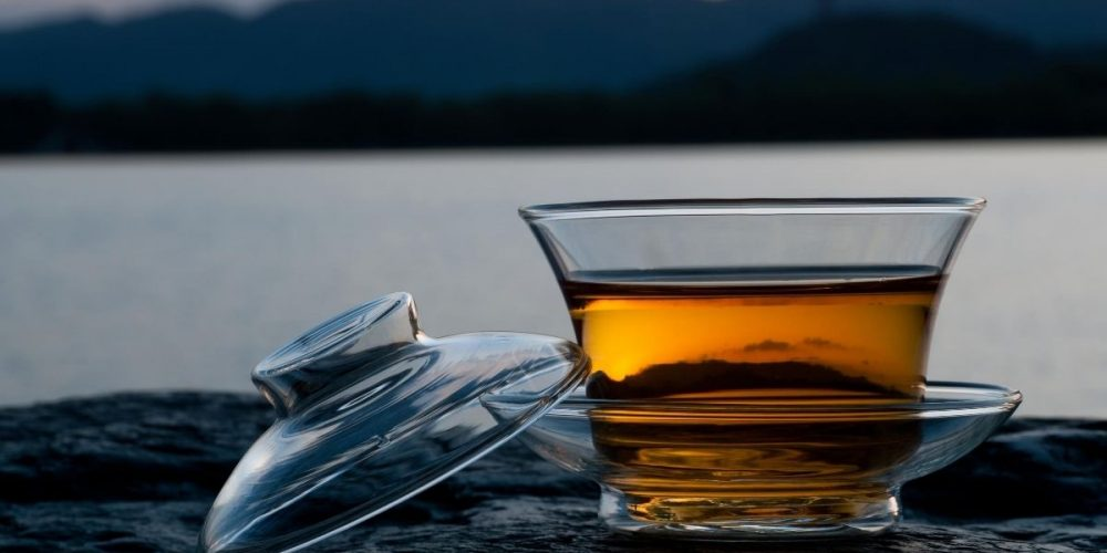Ali Shan High Mountain Oolong in clear cup