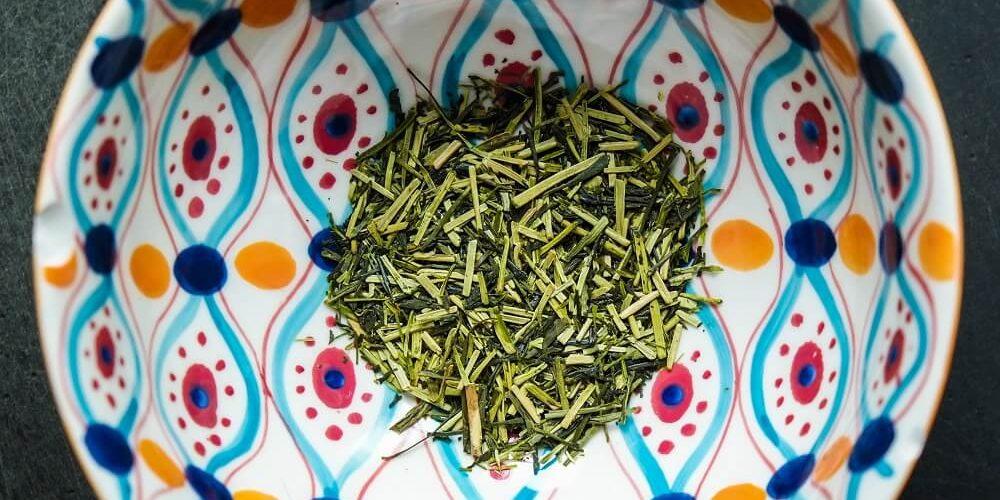 Kukicha Tea in a bowl