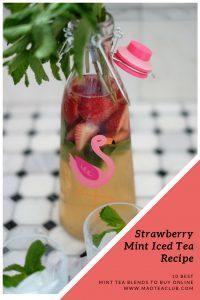 Strawberry Mint Iced Tea Pinterest Design
