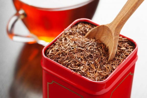 Red Tin With Loose Leaf Rooibos Tea