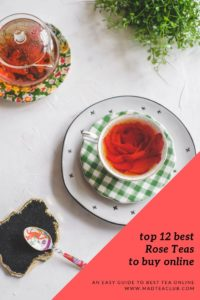 Rose tea Pinterest design