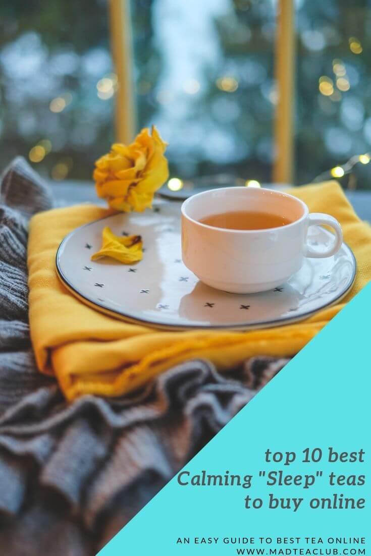 top 10 best calming stress-relief teas to buy online, pinterest design