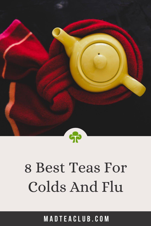 Tea for colds and flu: Pinterest design