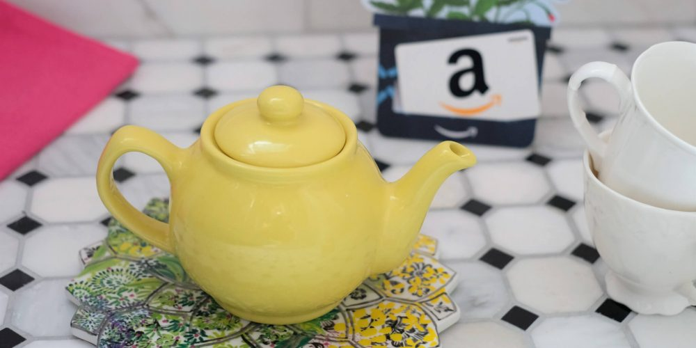 Tea Pot And Amazon Gift Card