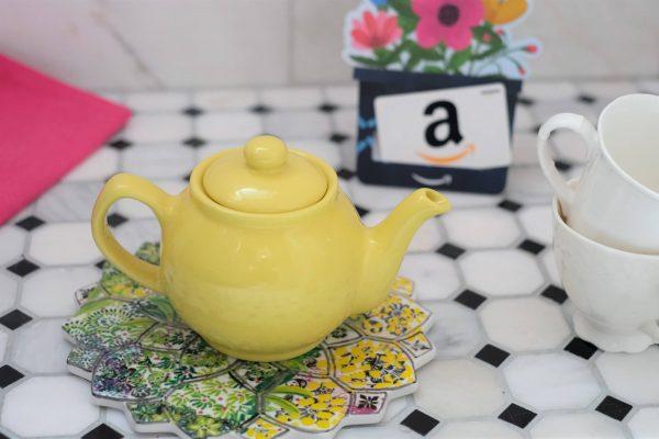 Tea Pot And Amazon Gift Card