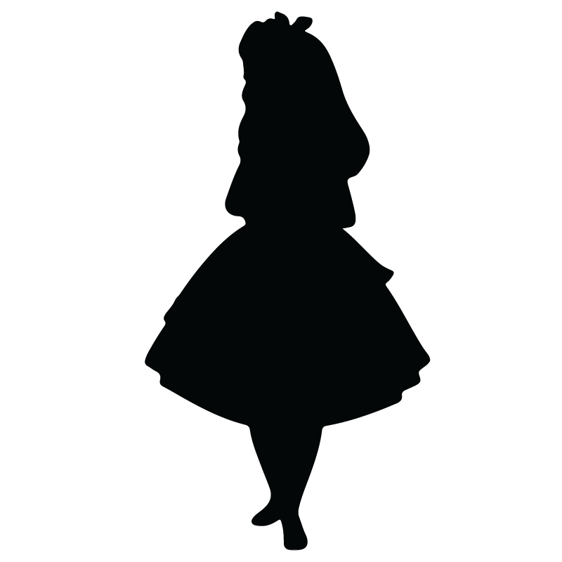 Silhouette of Alice