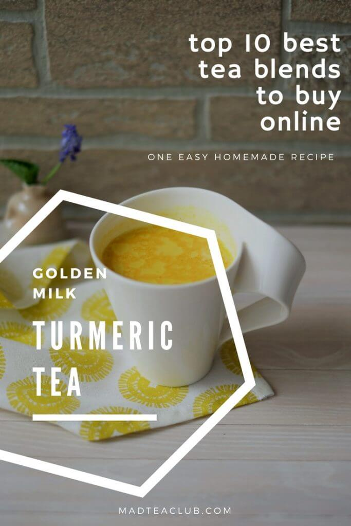 Turmeric Tea Golden Milk Pinterest Design