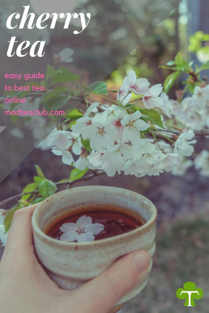 Cherry Blossom Tea Pinterest design