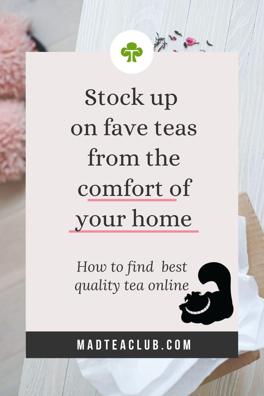 Pinterest design: How to find best quality tea online
