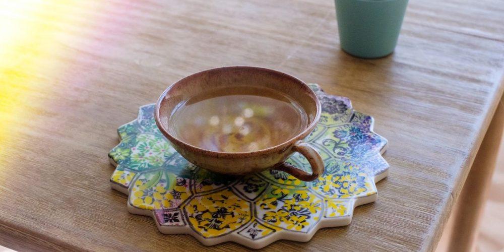 a cup of cbd tea on the table