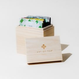 Branded Wood Box Teabags