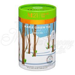 Maple Green Decorative Pyramid Tea Bag Canister