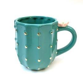 Pinky Up Cactus Ceramic Tea Mug