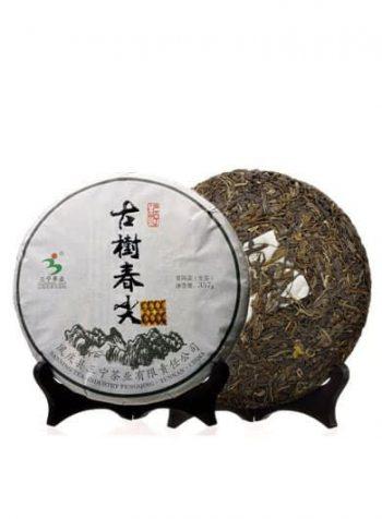 Fengqing Ancient Tree Spring Chun Jian Raw Pu-erh Cake Tea 2012