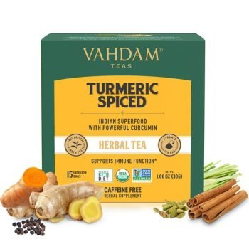 Turmeric Spiced Herbal Tea Tisane Tea Bags