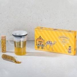 Turmeric Tea Tales and Sparkle Glass Tea Cup